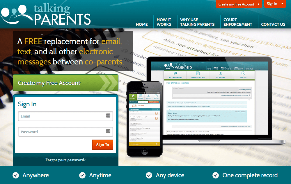 Talking Parents App | Jacobs Law Firm Family and Divorce Law